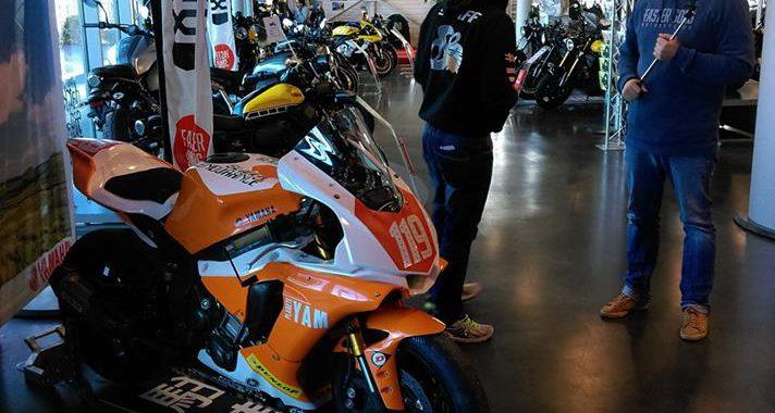 La moto est exposée à Rennes